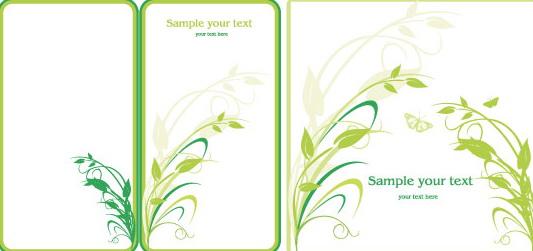 绿色植物边框矢量图官方下载|绿色植物边框矢量图