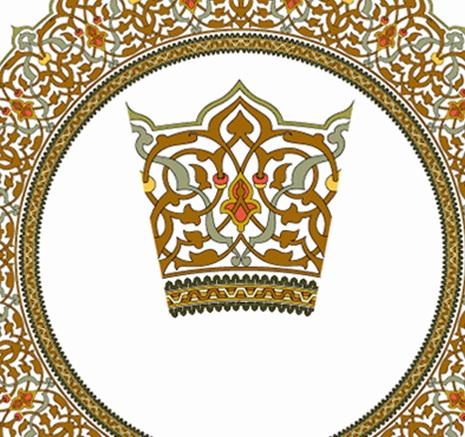 欧式圆形皇冠边框矢量图