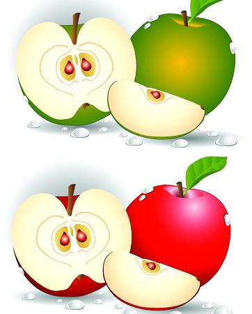 卡通苹果表情矢量图_卡通苹果表情矢量图模板