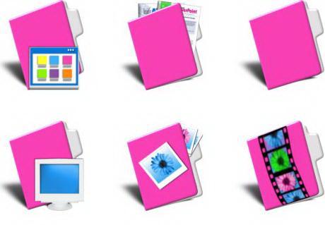 win7电脑桌面文件夹图标图片