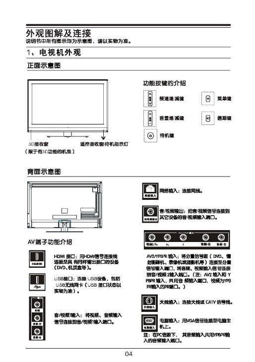 tcl王牌l32f3370-3d液晶彩电使用说明书