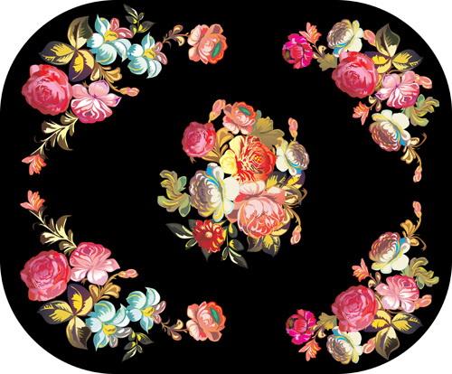 花朵边角纹素材