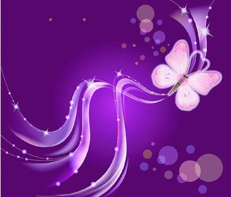 紫色蝴蝶花纹素材