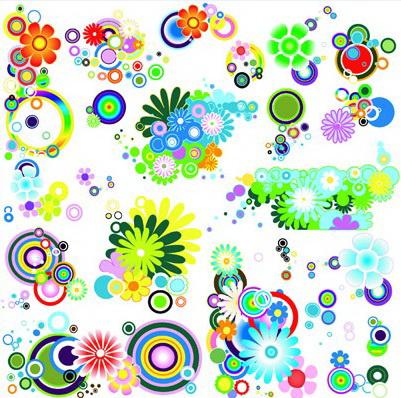 潮流花朵元素素材