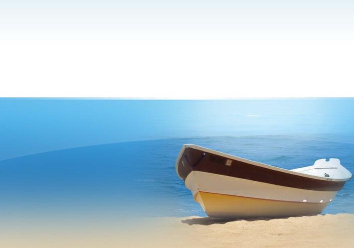 海边沙滩ppt模板