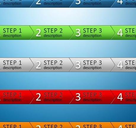 网页注册步骤按钮素材psd素材