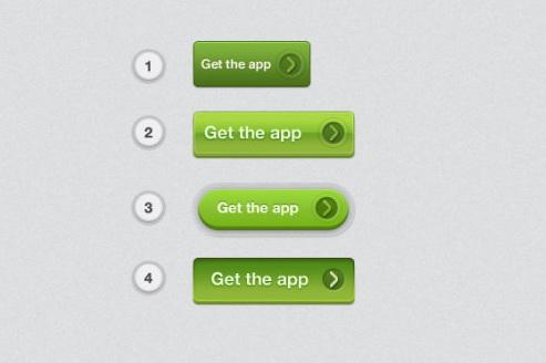 绿色质感按钮素材
