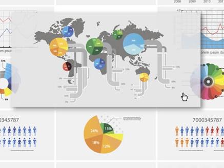 网页数据统计表设计矢量素材图片