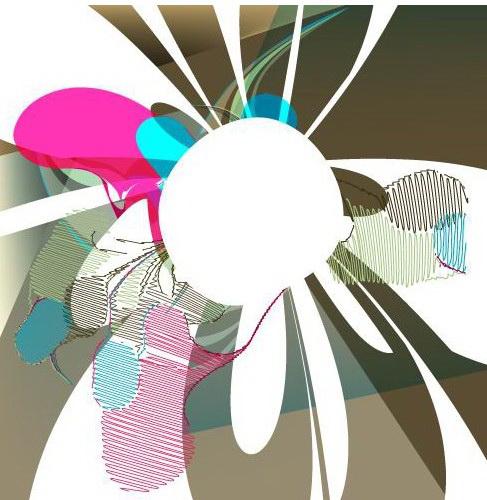 矢量抽象放射条纹背景素材