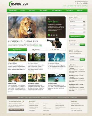 旅游网站设计psd模板素材