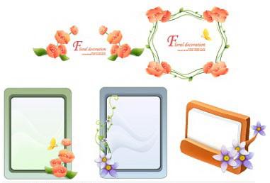 植物花边边框素材30_植物花边边框素材30模板