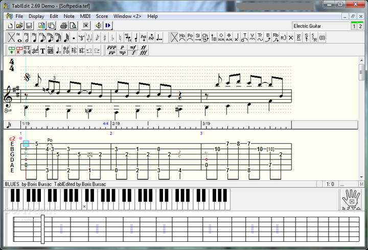 TablEdit Tablature Editor