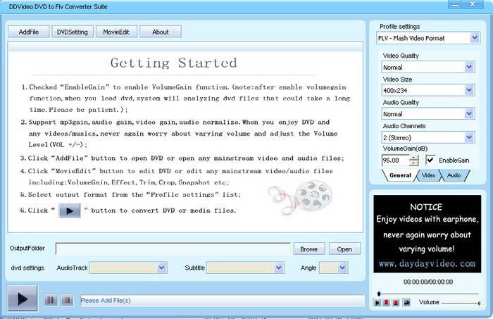DDVideo DVD to FLV Converter Suite