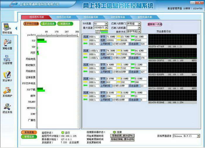 网上特工二代网络监控系统