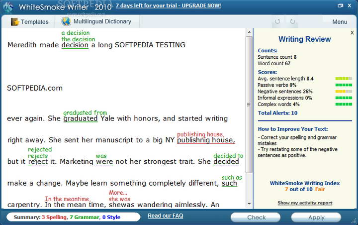 WhiteSmoke Writer 2011