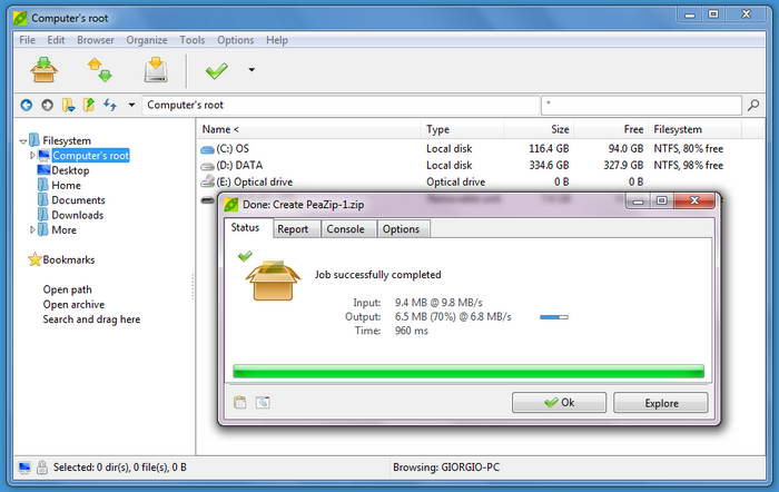 PeaZip For Linux (GTK2) DEB (all)