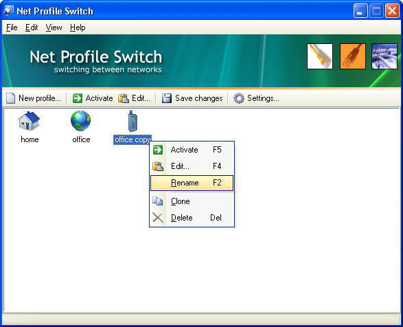 Net Profile Switch