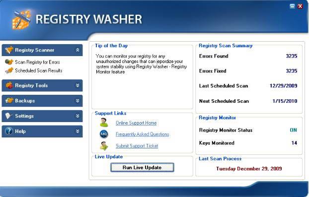 Registry Washer
