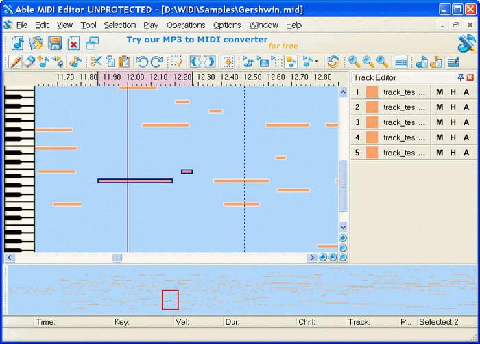 Able MIDI Editor