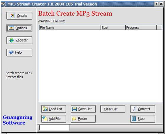 MP3 Stream Creator
