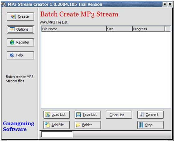 MP3 Stream Creator