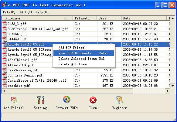 e-PDF To Text Converter