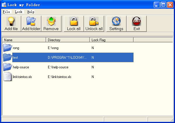 Lock my Folder