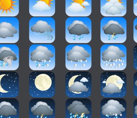 安卓手机卡通天气图标素材