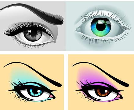 卡通眼睛手绘矢量图素材