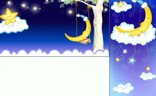 星星月亮卡通矢量图_星星月亮卡通矢量图模板