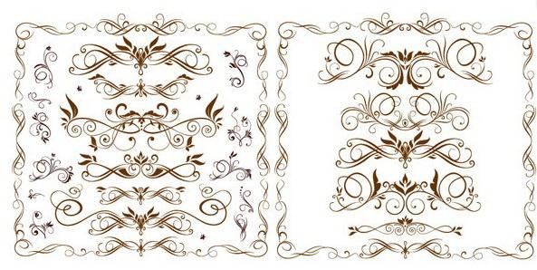 欧式时尚花纹花边矢量素材官方下载|欧式时尚花纹