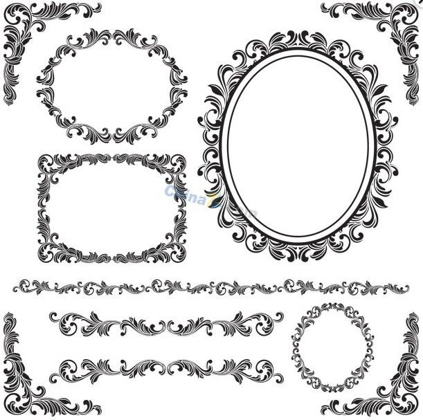 欧式角花矢量设计_欧式角花矢量设计模板