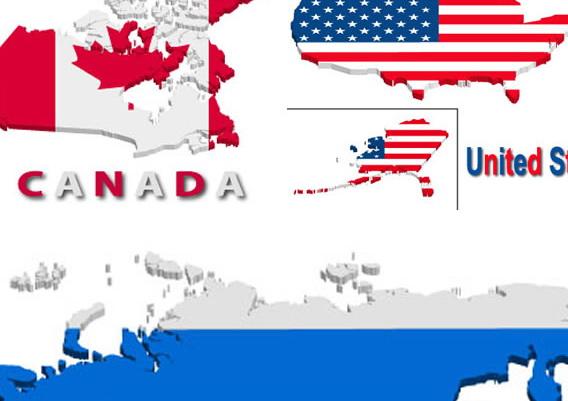 德国美国俄罗斯英国加拿大矢量地图素材