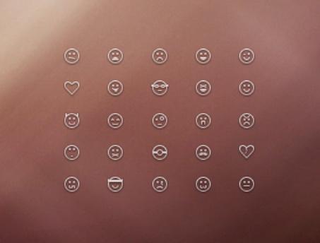 笑脸图标PSD素材