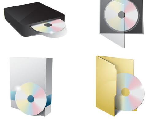 光盘cd dvd图标矢量素材