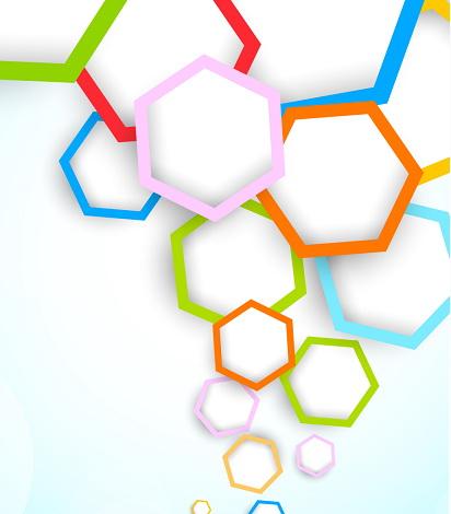 炫彩六边形创意背景素材