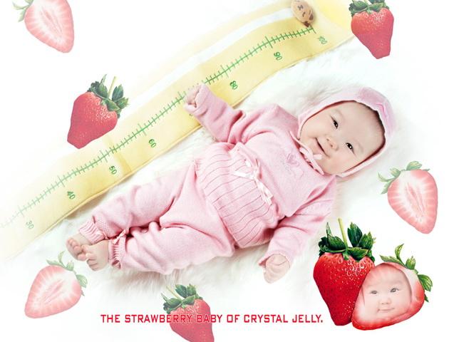 草莓宝宝个性写真PSD素材