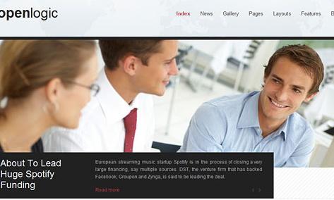简洁商业公司网站css+xhtml网页模板