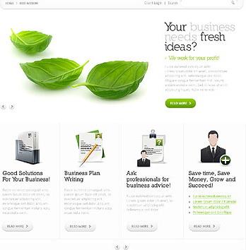 简洁的css+xhtml网页模板
