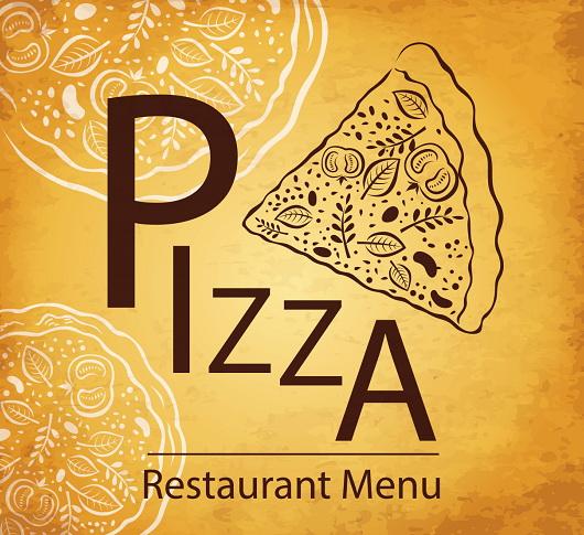披萨创意菜单矢量设计