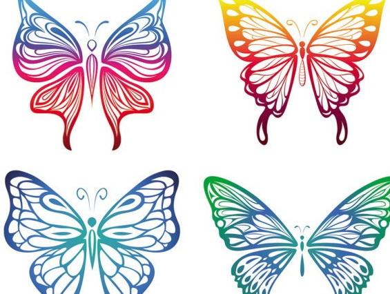 蝴蝶对称图形剪纸步骤