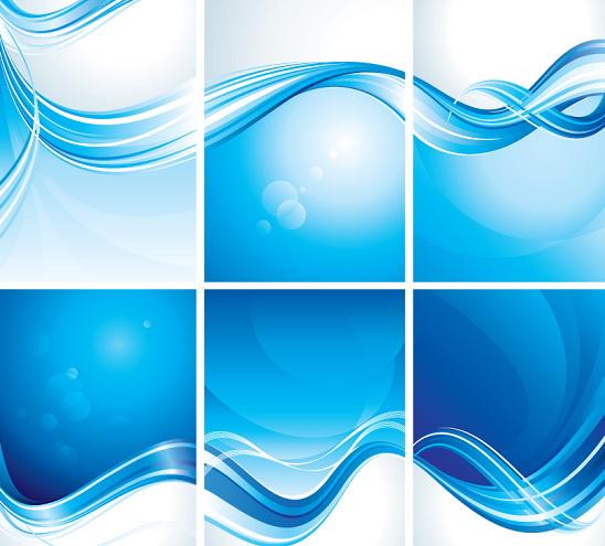 蓝色创意展板背景矢量图