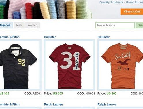 网店衣服专卖psd网站模板