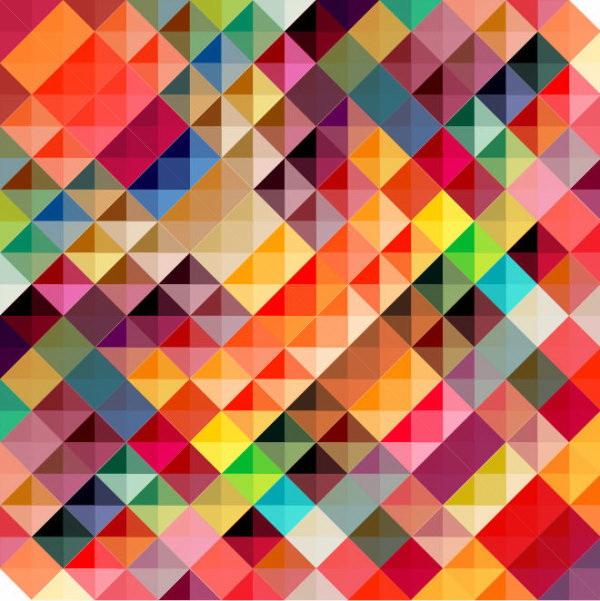 彩色方格背景矢量_彩色方格背景矢量模板