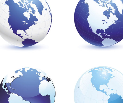 全球地球仪地图PNG