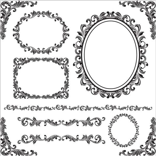 欧式角花矢量设计模板