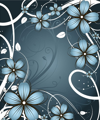 装饰花纹边框矢量文本背景
