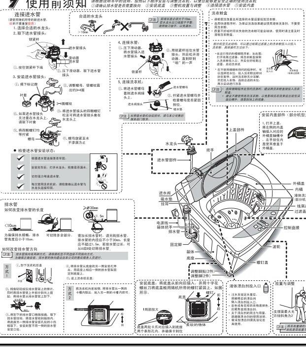 海尔xqb70-m7288家家爱洗衣机使用说明书