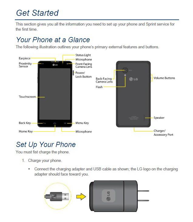 LG OPTIMUS G LS970手机说明书