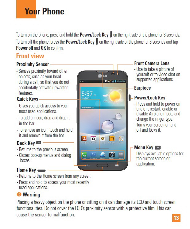 LG OPTIMUS G PRO LG-E980手机说明书